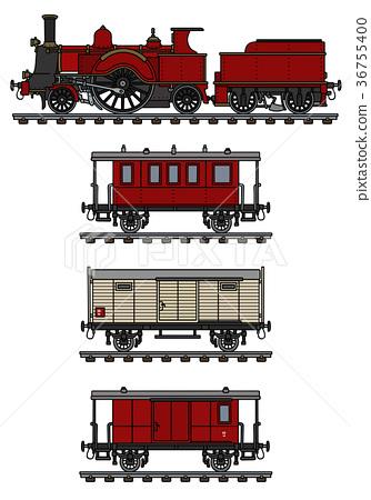 Vintage steam train 36755400