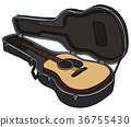 Accoustic guitar in a case 36755430
