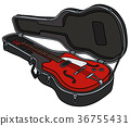 The old electric guitar in a case 36755431