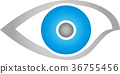Eye abstract, ophthalmologist and video logo 36755456