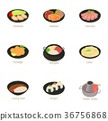 Sushi icons set, cartoon style 36756868