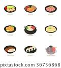 Sushi icons set, cartoon style 36756868