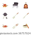 icons, vector, bbq 36757024