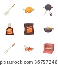 barbecue, icons, vector 36757248