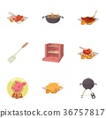 bbq, icons, vector 36757817