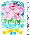 水彩畫 手繪 植物 36764317