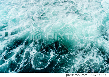 Seething atlantic sea water with foam Cape Cod 36764563