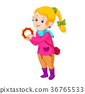 kids dancing with musical instruments tambourine 36765533