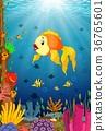 水生的 卡通 珊瑚 36765601
