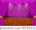 Stage with purple curtains 36765635