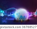 Globe and traffic cone 36768527