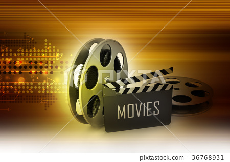 Film Reels and Clapper board 36768931