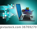 Internet and Online Shopping Concept 36769270
