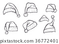 แบบร่าง,หมวก,คริสต์มาส 36772401