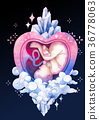 Watercolor embryo inside the womb with fantasy 36778063