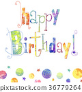 Happy birthday greeting card 36779264