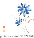 Beautiful summer blue flowers 36779266