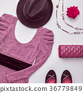 Fashion Set. Top view. Stylish Fall Autumn Outfit 36779849