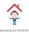 Vector faceless businessman character 36782303