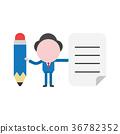 Vector faceless businessman character 36782352