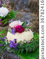 Nature Styled Wedding Cake on River Rock 36782416