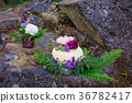 Nature Styled Wedding Cake on River Rock 36782417