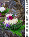 Nature Styled Wedding Cake on River Rock 36782420