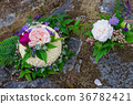Nature Styled Wedding Cake on River Rock 36782421
