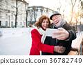couple, senior, city 36782749