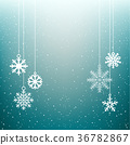 snowflake, christmas, background 36782867