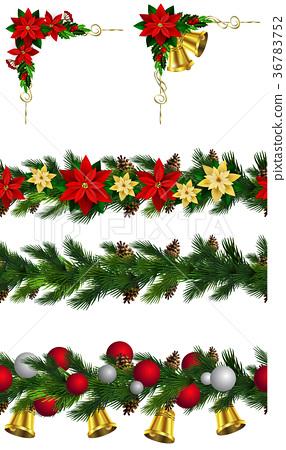 Vector Christmas Border 36783752