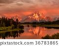 mountain, river, sunrise 36783865