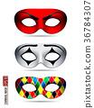 Set of Carnival Mask 36784307