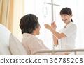 병실 똑 간호사 환자 병원 의료 이미지 36785208