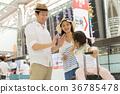 부모와 자식 여행 공항 가족 여행 이미지 36785478