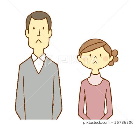 一對30多歲的夫婦在抱怨 36786206