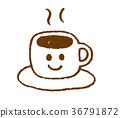 뜨거운 커피, 커피, 커피 컵 36791872