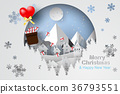 Paper art and craft of Merry Christmas  36793551