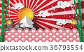 Paper art and craft of winter in Japan temple  36793554