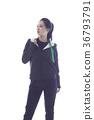 한국인, 젊은여자, 운동복 36793791