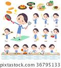 乘務員 烹飪 煮菜 36795133