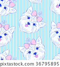 Seamless pattern with head of dog  36795895