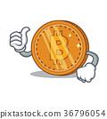 Thumbs up bitcoin coin character cartoon 36796054