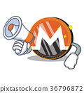 With megaphone Monero coin character cartoon 36796872