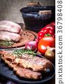 Smoked pork ribs. 36798408