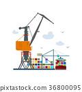 cargo crane containers 36800095