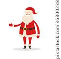 Santa Claus Cartoon Xmas Character Vector Icon 36800238