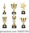 cup, golden, vector 36800764