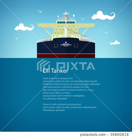 Oil Tanker Poster Brochure Flyer Design 36800818