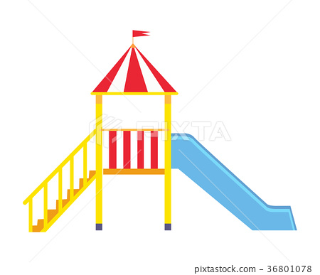 Children s Slide for Playground on White Backfit 36801078
